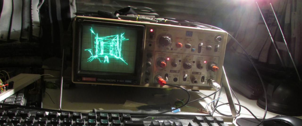 Quake su un oscilloscopio, che NERDATA!