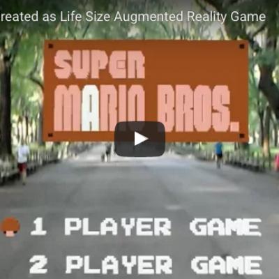 Super Mario Bros realtà aumentata Central Park